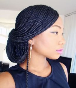 Individual Braids Side style