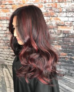 black cherry red highlights