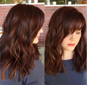 copper highlights in auburn hair