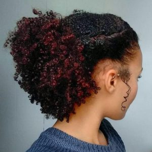 subtle red highlighted curls