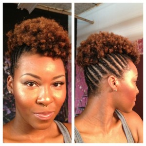 curly black updos