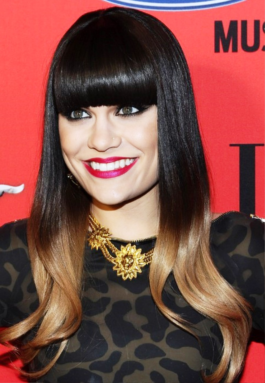 7Big Bold Bangs Dark Hair Ombre