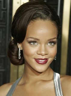 25 updo hairstyles for black women in this gorgeous style we get to see the softer side of rihanna while she puts in another memorable red carpet appearance wearing an elegant hairstyle solutioingenieria Image collections