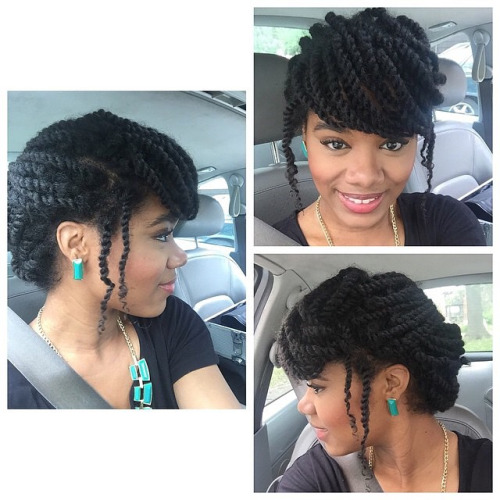 4twisted Front Puff Updo