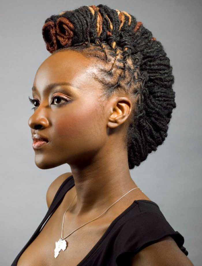 20 badass mohawk hairstyles for black women - Coiffure femme ronde ...