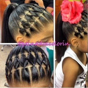 Ponytail hairstyle for little black girls