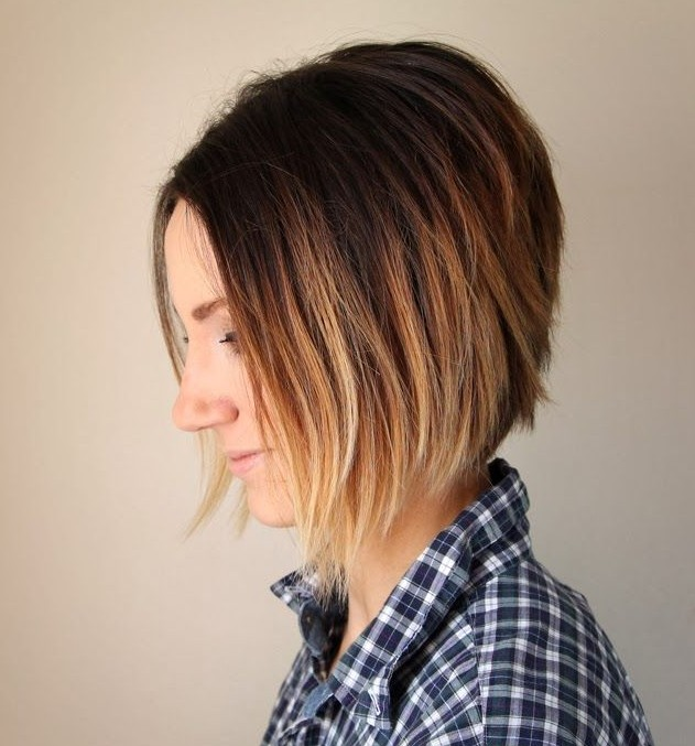 2Layered Sunset Ombre Bob