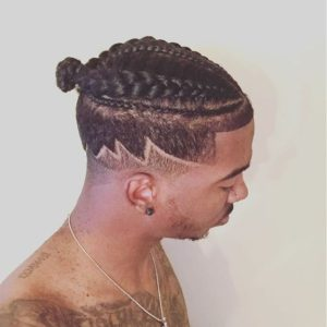 undercut with braids