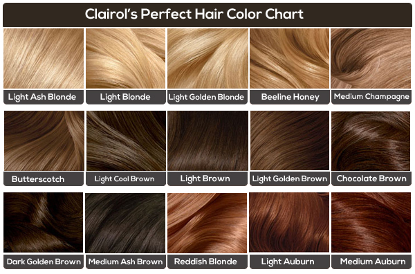Colors for Light brown hair chart