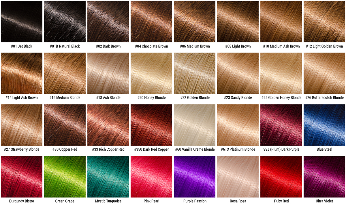 Different henna hair colors