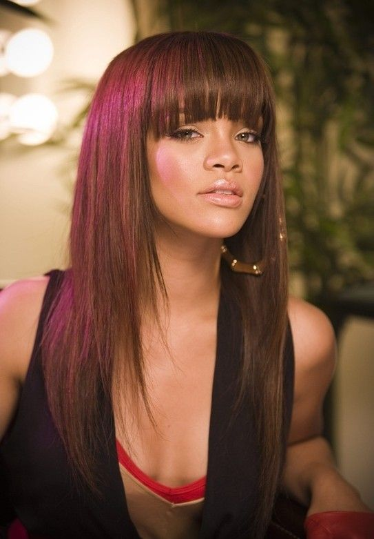 19Rihanna Natural Bangs