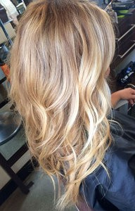 blonde balayage brown base