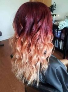 burgundy ombre