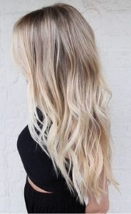 blonde hair with lowlights color