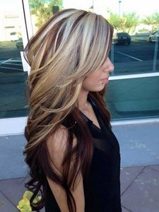blonde highlights brown hair