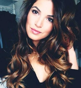Golden Brown Ombre Balayage Hair With Caramel Highlight Color Trend Of 2016