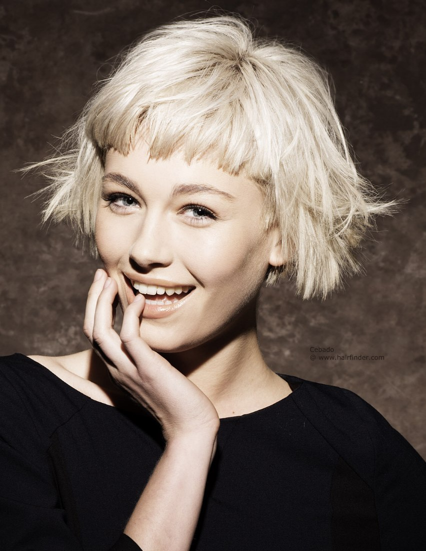 Short Hairstyles With Bangs amazing hairstyle