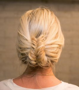 Folded Fishtail Updo