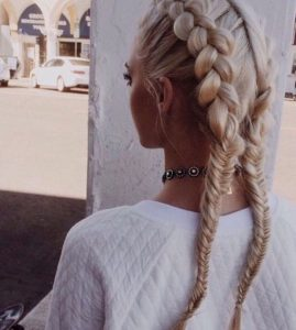 French Braid Fishtail Pigtails