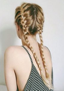 two french braids