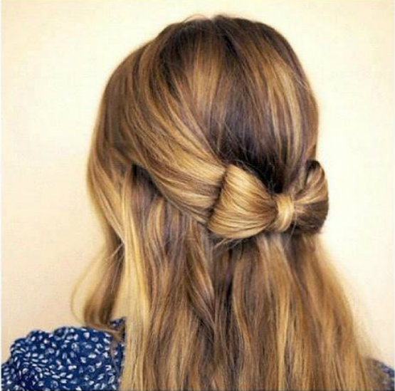 This Adorable Bow Offers Up A Unique Way To Pin Hair Back In A Surprisingly  Easy Style To Pull Off. Tie Some Hair From Each Side Of The Head Into A  Ponytail ...