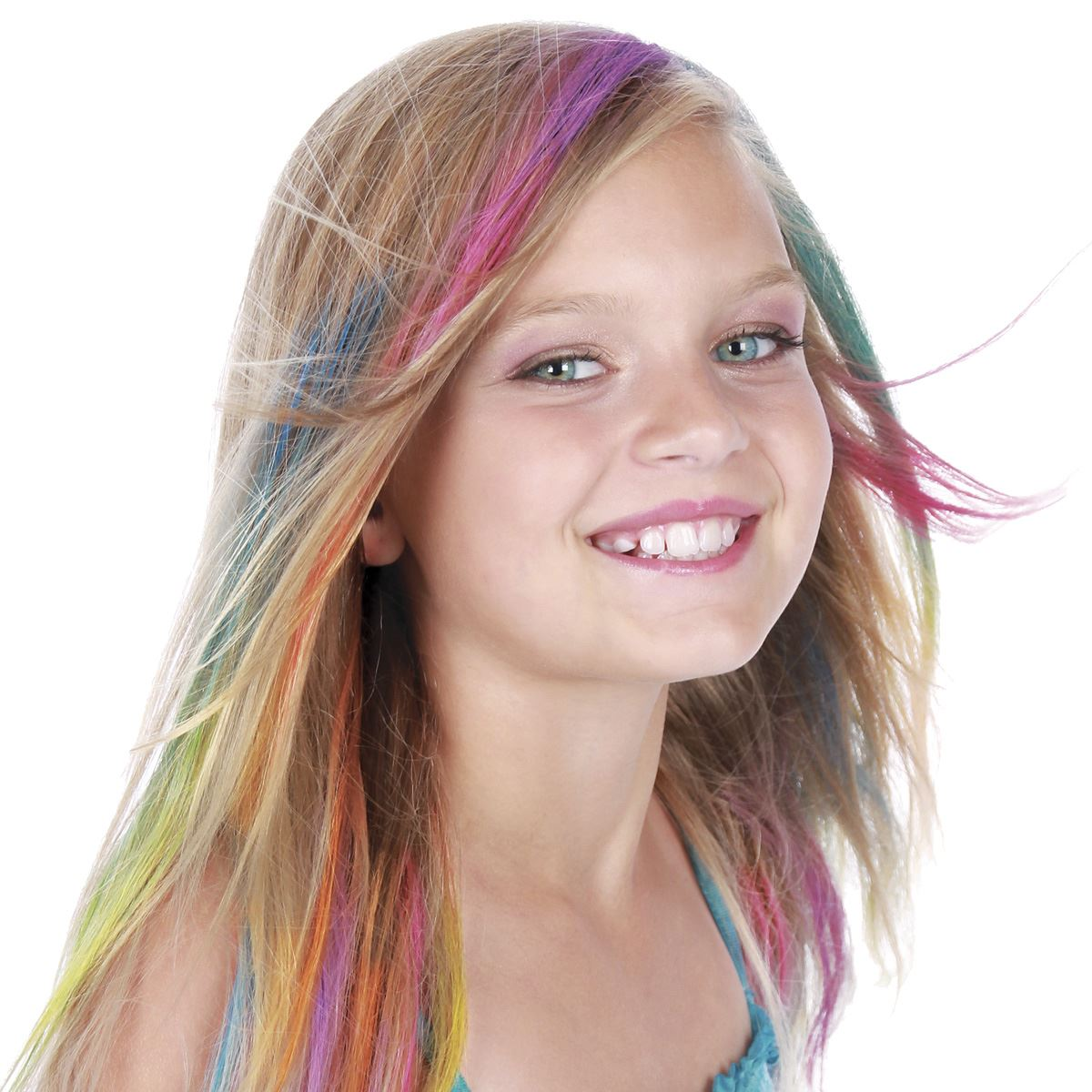 Rainbow ombre hair color