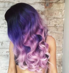 Long Purple Ombre