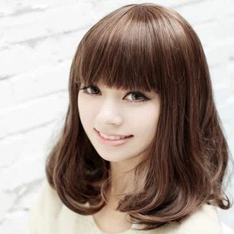 12Mid Length Blunt Asian Haircut With Bangs