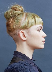 Undercut With Short Bangs