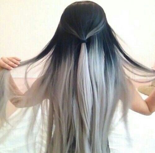 Silver hair 30 gorgeous silver hairstyle ideas black with silver ombreg solutioingenieria Gallery