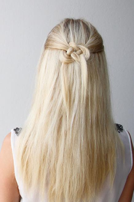 hair up and down styles top 30 half up half hairstyles 5746 | Celtic Knot