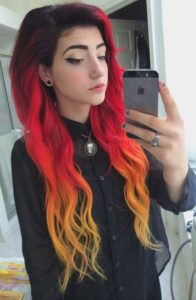 fiery ombre hair