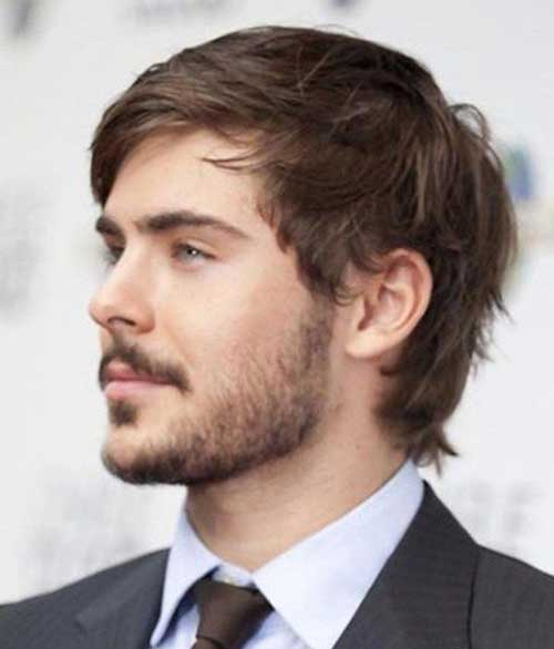 Top 20 zac efron hairstyles we love a great transitional style for men going from short to long this medium layered haircut goes nicely with zacs scruffy facial hair publicscrutiny Choice Image