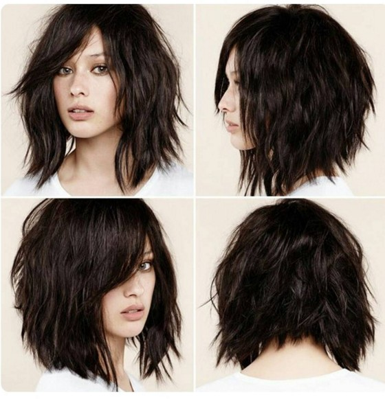 30 stunning shag haircuts in 2016 2017 this cut takes a classic angled bob and gives it a shaggy look thanks to hair left in its natural wavy texture and some added layering thats more subtle solutioingenieria Gallery