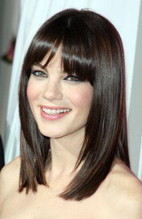 Medium Hair With Straight Bangs