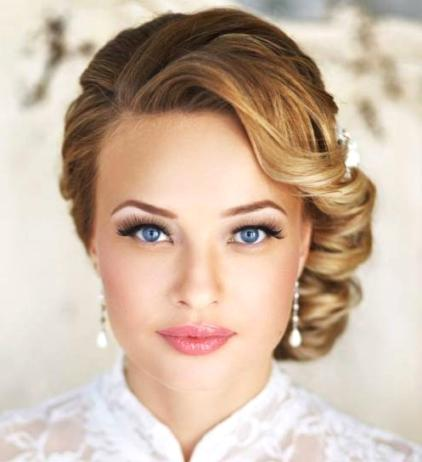 30 wedding hairstyles for medium hair a very fancy look fit for a black tie affair this style has every hair perfectly in place and is best suited for medium hair without too much layering junglespirit Images