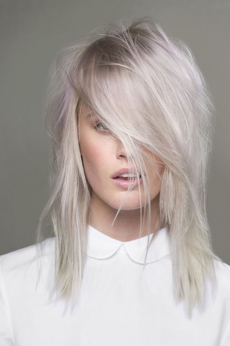 30 platinum blonde hair color shades and styles - Blond gris femme ...