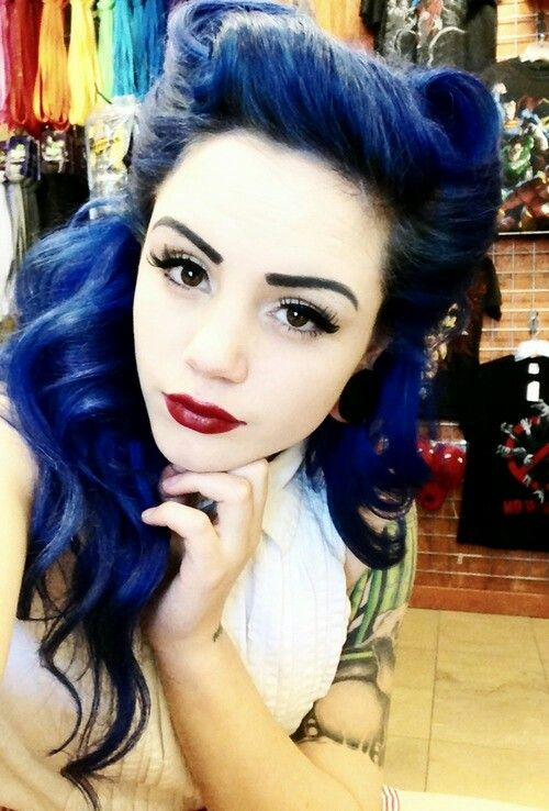 blue hair style blue black hair tips and styles blue hair dye 3169 | blue black vintage style
