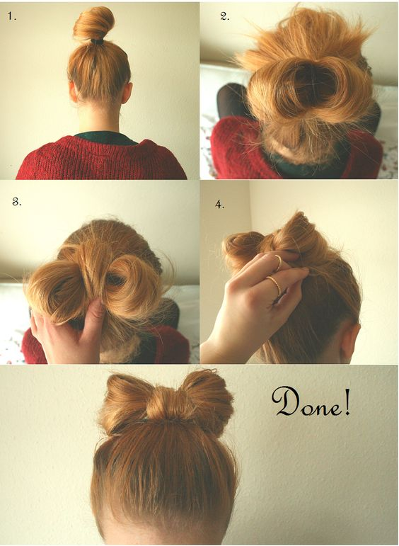 10 Bow Hairstyles With Tutorials and Imges