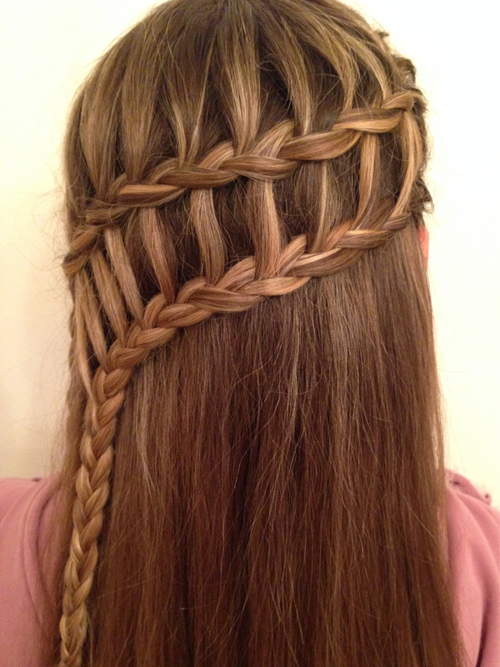 Easy Waterfall Braid Tutorial How To Do A Waterfall Braid