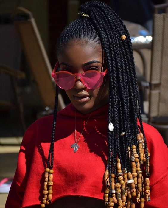 60 Totally Chic And Colorful Box Braids Hairstyles To Wear!