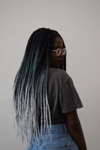blue gradient braids