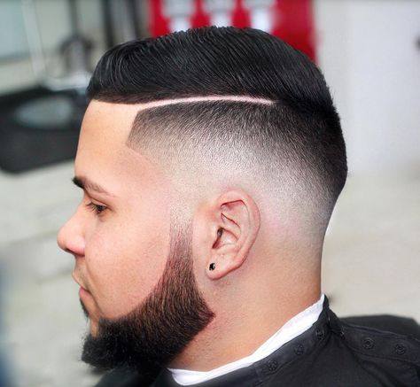 3Drop Fade With Hard Part