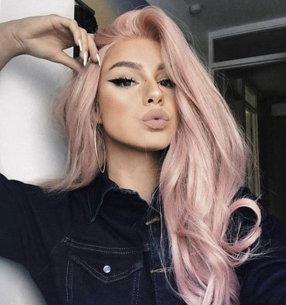 dust rose pink hair color