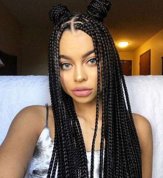 Different Styles Of Braids For Black Hair 60 Totally Chic And Colorful Box Braids Hairstyles To Wear