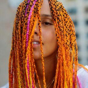 neon box braids