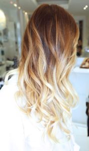 Auburn With Butter Ombre