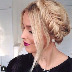 Fishtail milkmaid braid