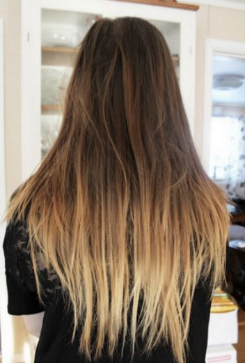 This Golden Blonde Ombre Over Dirty Hair Makes For A Bold Look That S Perfect Warming Things Up In The Summer Or When You Re Looking To Do Some