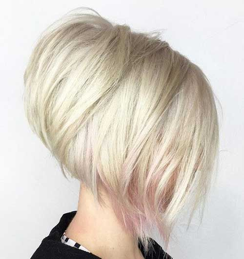 30 stacked bob haircuts for sophisticated short haired women this young fun take on a stacked bob haircut features a faint touch of pink at some of the ends proving that playful styles dont have to be over the top winobraniefo Images